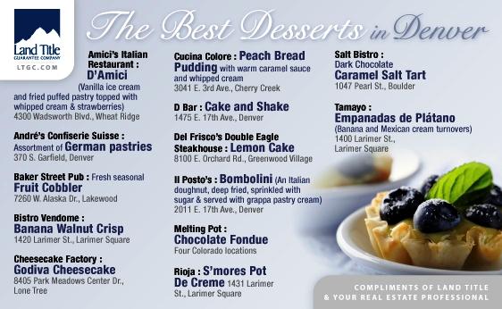 Denver's Best Deserts