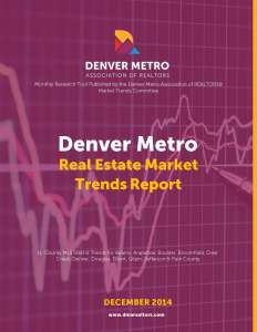 Denver Metro Association of Realtors 12/2014 Market Update.