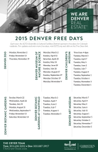 "Enjoy a ""Free"" Day in Denver!"