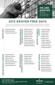 "Enjoy a ""Free"" Day in Denver!"