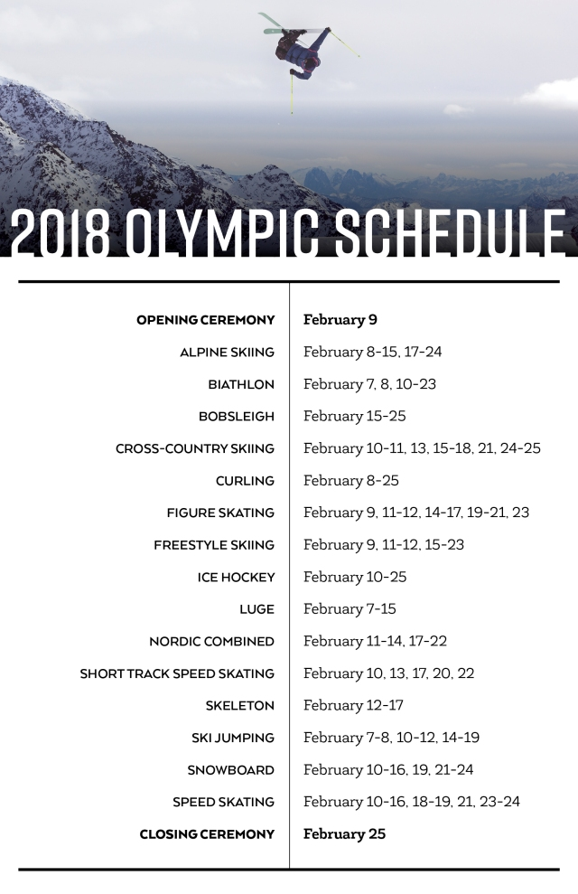 2018 Olympic Schedule - High Res JPEG